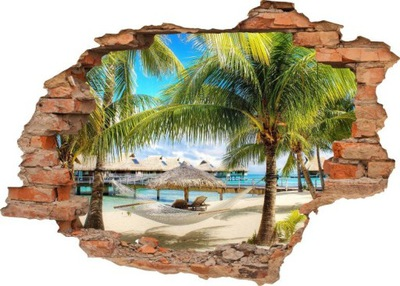 NÁLEPKY NA STENU Diera v stene PALM BEACH