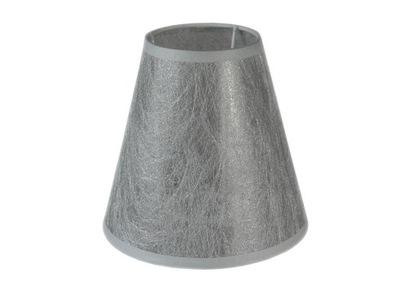 Svietidlo - tienidlo - NOWOCZESNY Srebrzysty abażur stożkowy E14 8x15x14