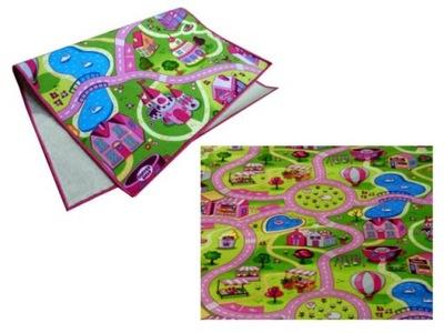 Koberec do detskej izby - KARTA CHILY CHEAP 1.4X2 140X200 PINK STREETS