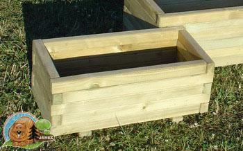 Donica, Kwietnik 30x60x26 cm drewniany PROMOCJA