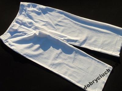 -Spodnie damskie białe lniane rozm.40(L) _PAPAYA__