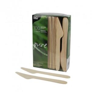 ножи одноразовые деревянные столовые ПРИБОРЫ ИЗ ДЕРЕВА x100
