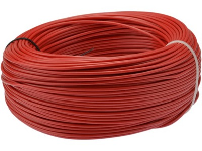 Drôt, kábel, kábel LGY H07V-K, 6 mm2, červený, 100 m