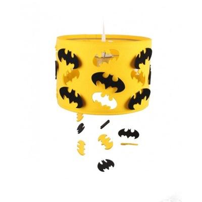 Lampa wisząca dla dzieci Batman żółta czarna filc