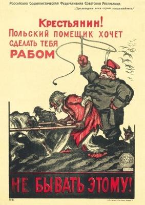 Bolszewicki plakat propagandowy z 1920 DENISOW