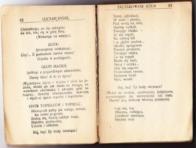 Zaczarowane koło 1922 Rydel baśn dramatyczna
