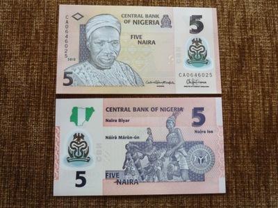 194.NIGERIA 5 NAIRA UNC POLIMER