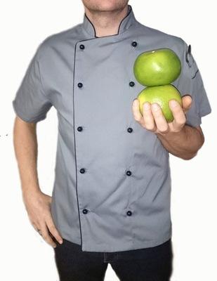 Szara Bluza kucharska kitel krótki rękaw Merkury