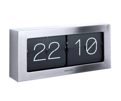 Hodinky stołowo/wall Flip Clock Box XL ocele,