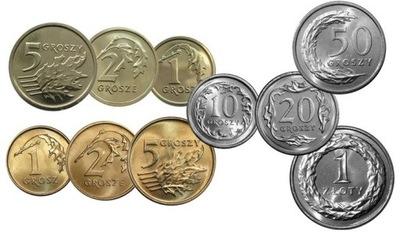 2013 komplet rocznik zestaw 1,2,5,10,20,50 gr 1 zł