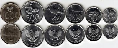 ИНДОНЕЗИЯ комплект 6 монет