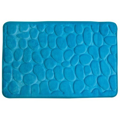 Protišmyková podložka -Dywanik łazienkowy 60x95 3Dsuper miękki niebieski