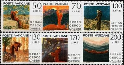 Ватикан. Мне 695-700 ** Franz von Assisi