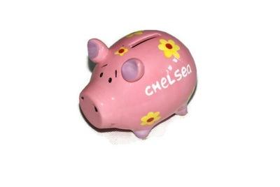 Pokladnička pre deti - Porcelánová prasiatka Chelsea