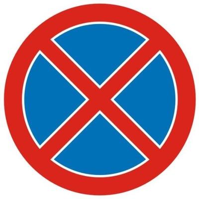 Дорожный знак B36 Запрет на остановку 600 мм typI