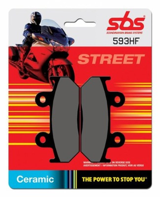 SBS KLOCKI HONDA CB/NX 350 87-90 ,CB 400N 86-