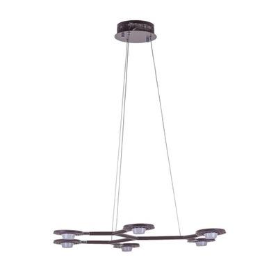 Nowoczesna Lampa Wisząca 6x LED Kresyda Dark Coffe