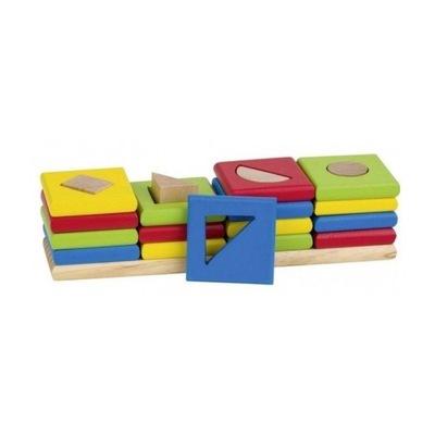 Didaktická hračka - Vzdelávacie drevené tvar triedič 4 tvar, GOKI