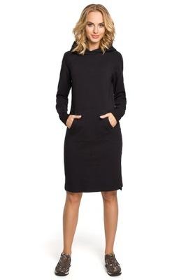 2268c6a396 TESSITA Luźna sukienka z paskiem XXL (44) 7641557793 - Allegro.pl