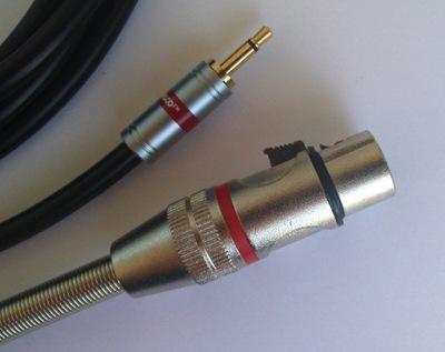 IMG kabel  mini Jack mono / XLR  żeński 3P    5m