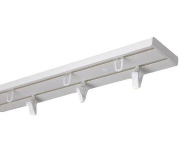 Карниз потолок шина ПВХ двухканальный 350cm (SET)