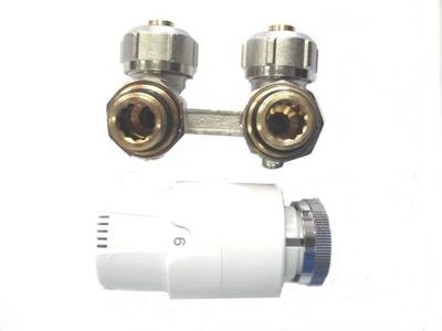 Nastaviť pre radiátory s V-modul uhlové pex + hlava