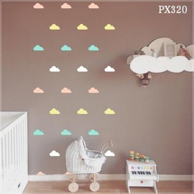 Šablóna na maľovanie stien - Šablóna pre celú stenu, kruhy, oblaky, trojuholník