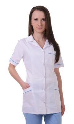 Fartuch medyczny kosmetyczny damski z lamówką S