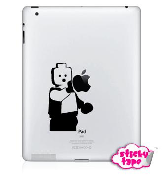 Naklejka Apple iPad 1-4, mini !!! ludzik