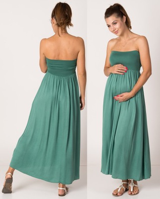 spódnica długa niebieska chabrowa plisowana 7416192412