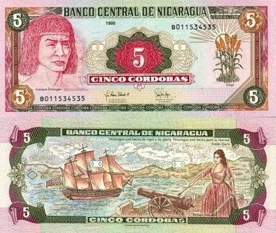 # Никарагуа - 5 CORDOBAS -1995 - P180 - UNC
