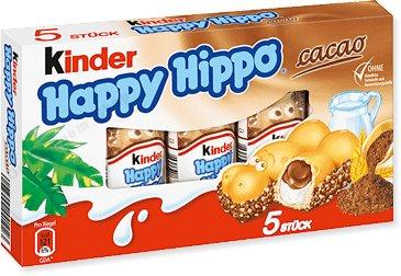 FERRERO KINDER HAPPY HIPPO 5 шт С ГЕРМАНИИ