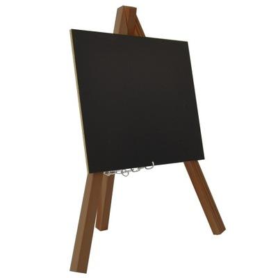 MINI SZTALUGA z tabliczką kredową - ciemne drewno