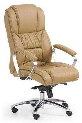 Kreslo pre kancelárie PODPOROVAŤ pravej KOŽE svetlo hnedá