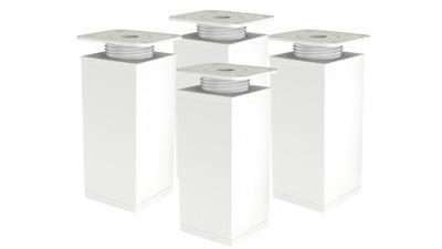 4 X НОЖКА НОЖКА Мебель регулируемая Ч 100 ММ белая