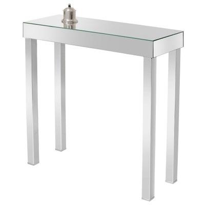 Консоль зеркальная, туалетный столик, стеллаж Хром 60x30