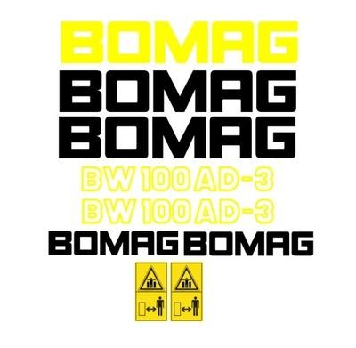 Naklejki oklejenie BOMAG BW 80, 100, 120 AD, ADH