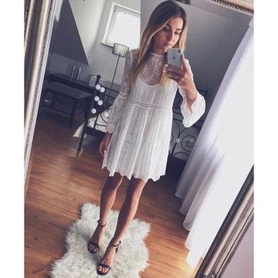 sukienki dziurkowana zara
