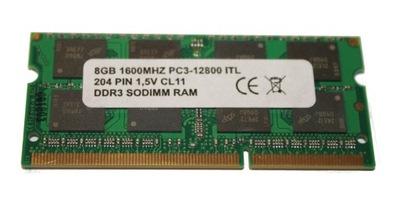 8GB 1600MHZ DDR3 PAMIĘĆ RAM DO LAPTOPA SODIMM NOWA