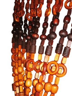 Заслонка на двери ЗАНАВЕС бусы деревянные PARAWA