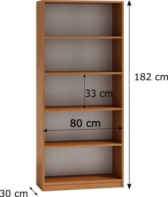 Книжный шкаф r80 цвет алдер ширина 80 см глубина 33 см высот.