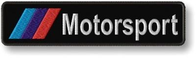 BMW Motorsport Naszywka Termo Haftowana 120x30mm
