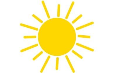 naklejka SŁOŃCE słoneczko małe 28cm OKNO ŚCIANA