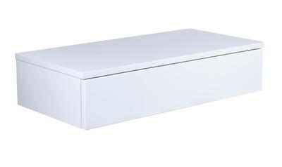 Biała Toaletka, komoda wisząca otwierana od dołu