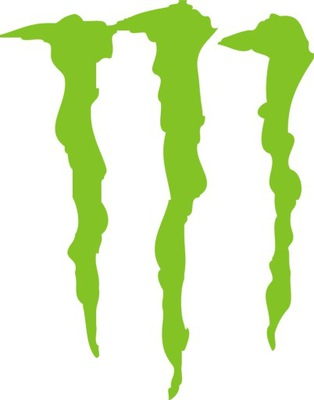 30x24cm Monster Pazúry Nálepka