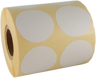 nálepku lables obtlačky kolo kruhu bielej 5cm