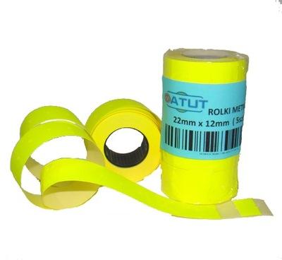 Značky pásky pre metkownicy 22x12 ŽLTÁ 5 ks ucho