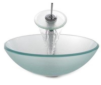 Umývadlo GLASS WASHBASIN + BATÉRIA HC6016 ZMRAZENÝ