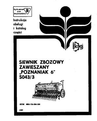MANUAL MANTENIMIENTO I KATALOG POZNANIAK 6 S043/3