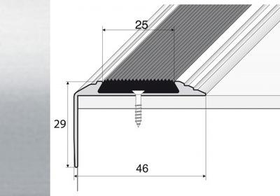 Планка 90 см лестница нескользящие серебро A38